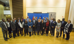 The Guyana delegation among representatives of the EU