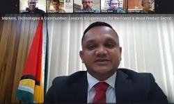 Minister Bharrat on Zoom