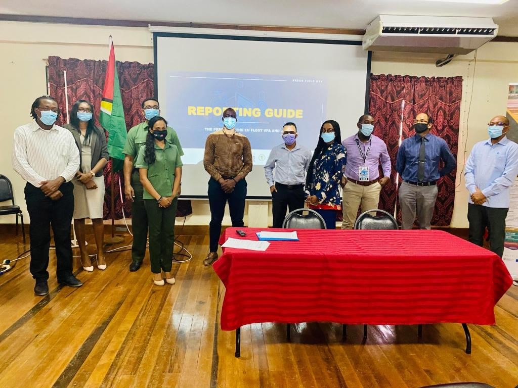 Members of the Press and FLEGT Secretariat Staff and FLEGT Facilitator