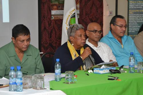 GFC officials at the Press Conference on Monday