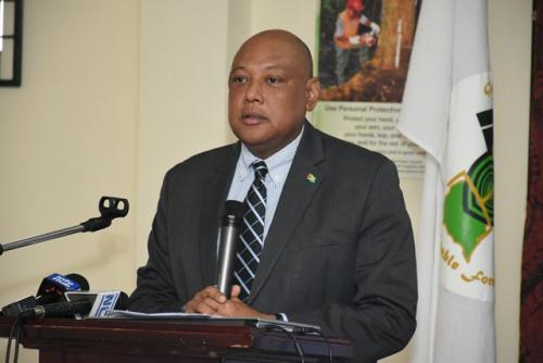Raphael Trotman, Minister of Natural Resources.